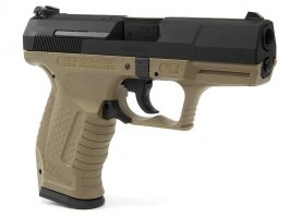 Airsoft pistol E99 - Metal, gas blowback - TAN [WE]