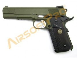 Airsoft pistol M.E.U. SOC OD, fullmetal, blowback [WE]
