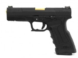 Airsoft pistol GP1799 T1  - GBB, metal black slide, black frame, gold barrel [WE]