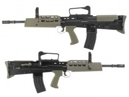 Airsoft rifle L85 GBB - full metal, blowback - black [WE]