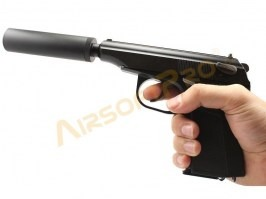 Airsoft pistol MA 654K with silencer and inner barrel - full metal, blowback [WE]