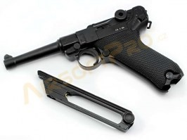 Airsoft pistol P08 Full Metal CO2 - 4 inch version, blowback [KWC]