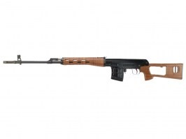 Airsoft sniper SVD GBB - plastic wood - full metal, blowback [WE]