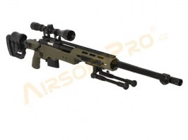 Airsoft sniper MB4411D + scope and bipod - olive [Well]