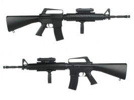 Airsoft M16 A3 + flashlight + grip - ABS [Well]