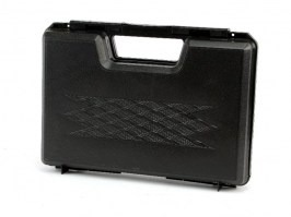 Plastic short gun case 30 x 20cm- black [Well]