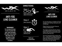 Anti-fog lens cleaner (25ml bottle) with cleaning cloth 	 [WileyX]