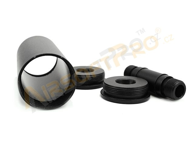 Metal silencer 85 x 35mm - black [Well]